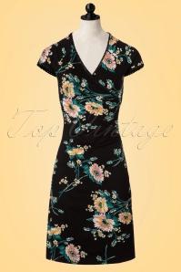King Louie Black Floral Cross Dress 100 14 20248 20170214 0003pop