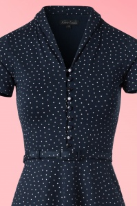King Louie Navy Blue Polkadot Dress 100 39 20265 20170214 0002V1