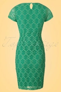 King Louie Mod Lace Floral Green Dress 100 40 20227 20170214 0012W