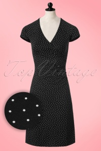 50s Little Dots Cross Dress in Black