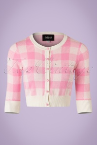 Collectif Clothing Lucy Gingham Cardigan in Pink 20644 20161130 0006w