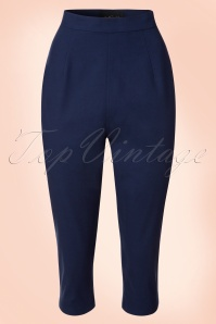 50s Gracie Capris in Navy