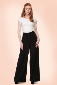 Collectif Clothing Opal Plain Palazzo Pants in Black 20713 20161201 0006