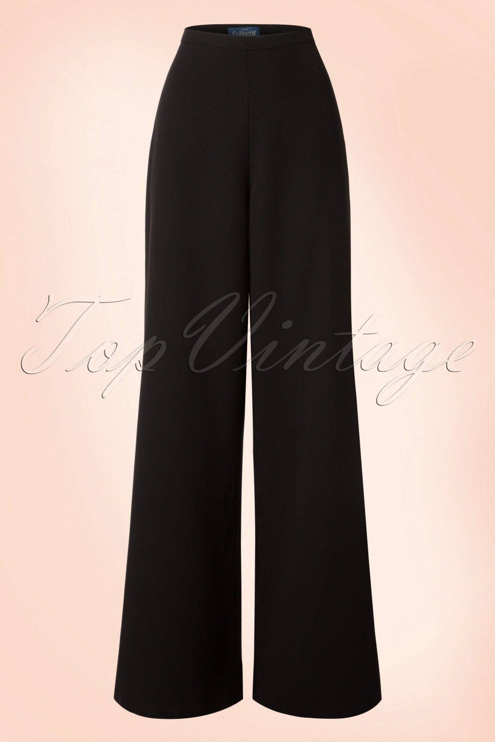 1950s Style Pants 50s Opal Palazzo Pants in Black £52.49 AT vintagedancer.com
