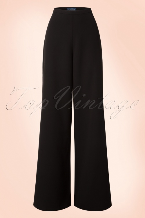 Collectif Clothing Opal Plain Palazzo Pants in Black 20713 20161201 0002w