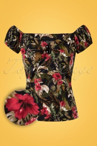 Collectif Clothing Dolores Lanai Hibiscus Top 20670 20161201 0002W1