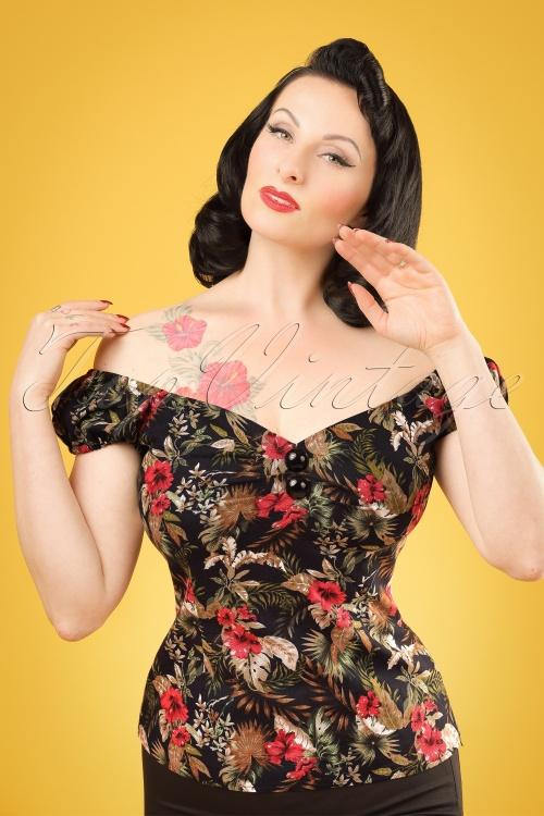 Collectif Clothing Dolores Lanai Hibiscus Top 20670 20121224 0001VW