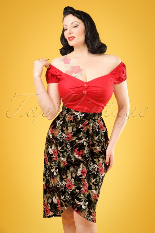 Collectif Clothing Kala Lanai Saring Skirt 20658 20121224 0001w