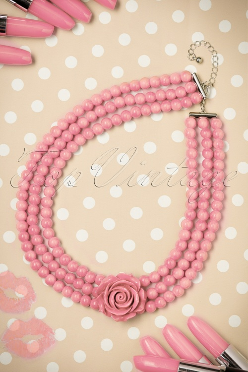 Collectif Clothing Multi Tier Rose Necklace 300 22 21189 010W
