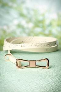 King Louie Bow Belt in Cream 230 51 19693 007W