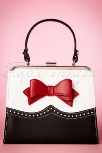 50s Inez Handbag in Black and White