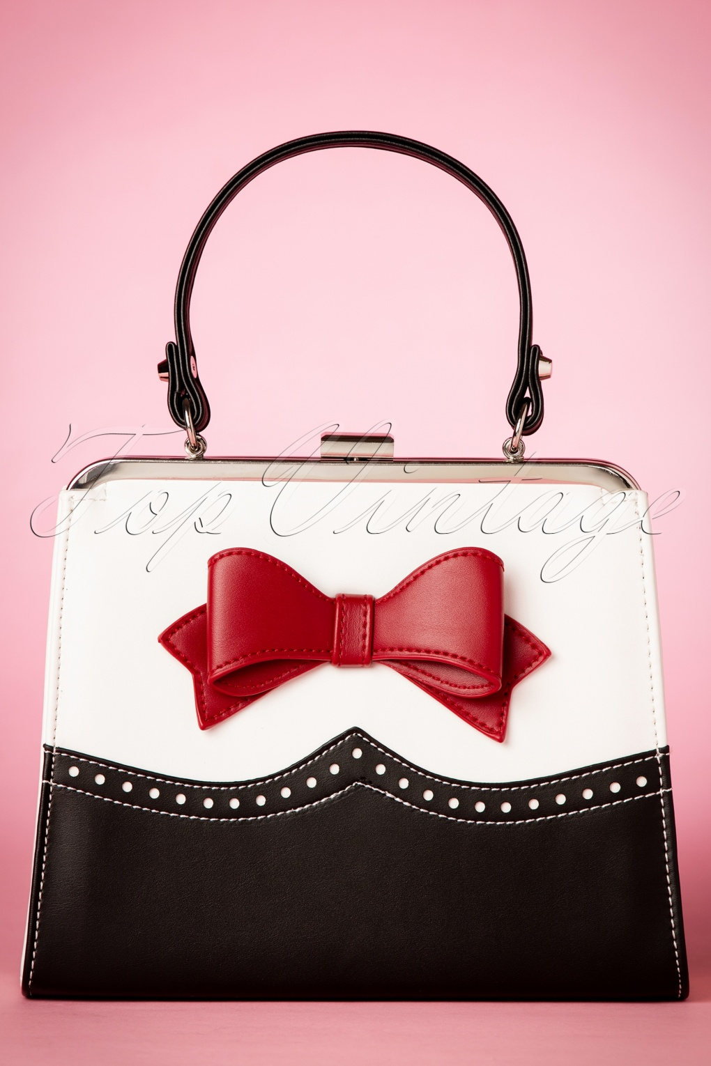 Retro Handbags, Purses, Wallets, Bags 50s Inez Handbag in Black and White £56.42 AT vintagedancer.com
