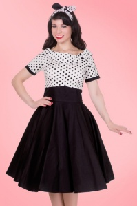 Dolly and Dotty 50s Darlene Polkadot Swing Dress  102 10 21152 20170216 0012
