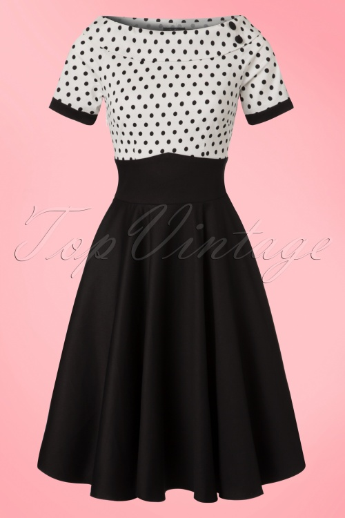 Dolly and Dotty 50s Darlene Polkadot Swing Dress  102 10 21152 20170216 0009w