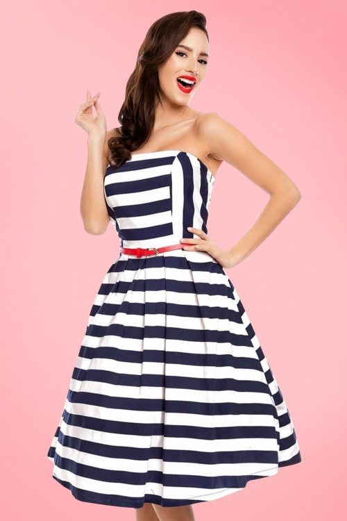 Dolly and Dotty Strapless Striped Swing Dress 102 59 20728 20170216 001