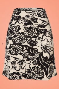 King Louie Borderskirt in Black and Creme Floral Print 123 57 20229 20170109 0002W