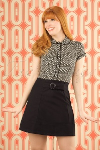 60s Dare to wear A-Line Skirt in Black