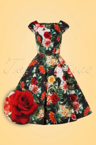 Hearts and Roses Navy Rose Floral Swing Dress 102 39 19991 20170216 0001V