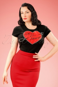 50s Bless Your Heart T-Shirt in Black