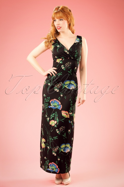 King Louie Ginger Maxi Floral Dress 108 14 20165 20170110 0011W