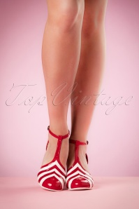 Lola Ramona Elsie T strap Pumps Red 401 27 19414 02152017 005W