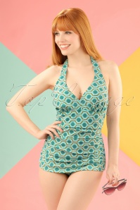 Bettie Page  Blue Green Bathing Suit  20858 20161223 10W