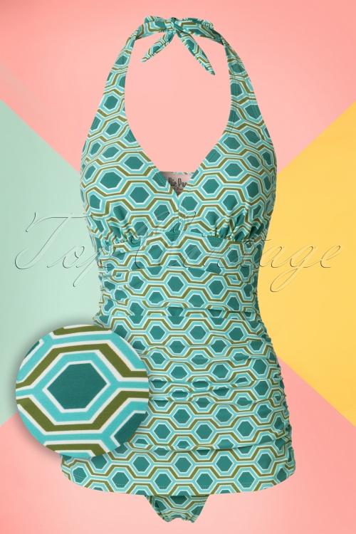 Bettie Page  Blue Green Bathing Suit  20858 20161223 0006W1
