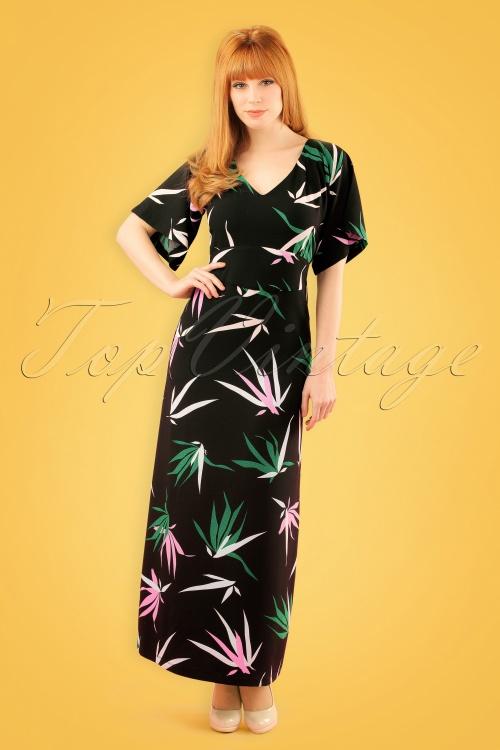 Mademoiselle Yeye Mae Maxi Dress in Bamboo 19900 20161116 geel W