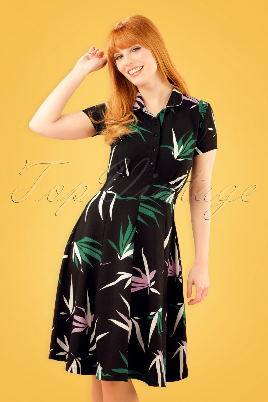 1960s Style Skirts 60s Suzette Bamboo Dress in Black £85.87 AT vintagedancer.com