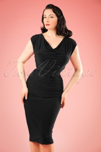 TopVintage exclusive ~ 50s Billie Pencil Dress in Black