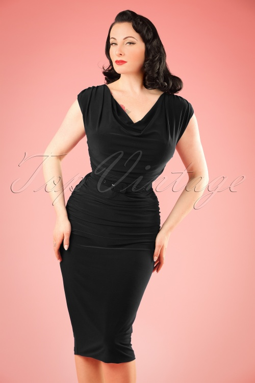 Zoe Vine Billie Black Pencil Dress 100 10 20152 20170203 1W