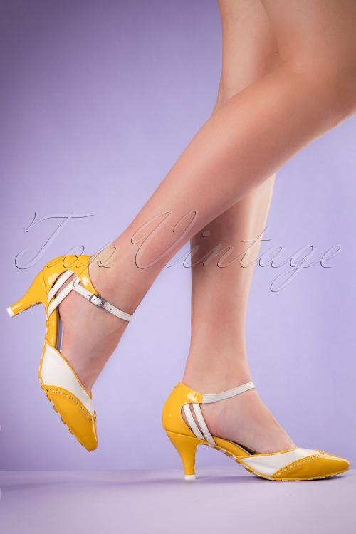 Lola Ramona Kitten Mary Pumps Yellow 402 80 19410 02152017 004W