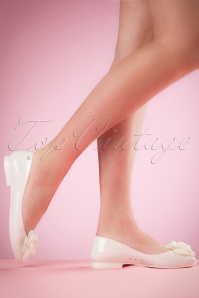 Dancing Days by Banned Pennies Cream Ballerinas 410 51 20524 02152017 001W