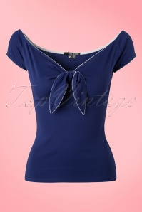 Bunny Blue Bow Bardot Sailor Top 111 31 18125 20160121 0006W
