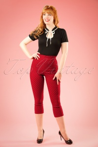 Bunny Kay Capris in Red Black Polkadots 131 27 18205 20160211 001W