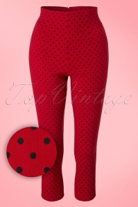 Bunny Kay Capris in Red Black Polkadots 131 27 18205 20160211 0010V