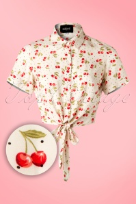 Collectif Clothing Sammy Cherry Tie Blouse 20667 20161201 0001W1