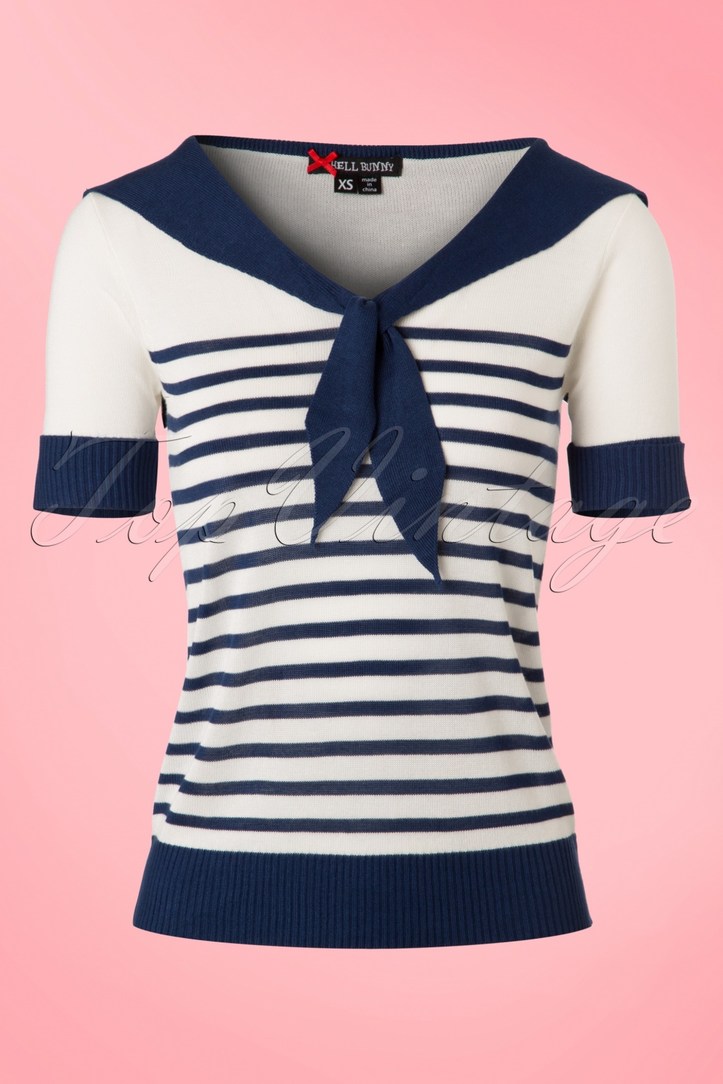 1950s Rockabilly & Pinup Tops, Shirts, Blouses 50s Coco Sailor Top in Navy and Ivory £25.73 AT vintagedancer.com