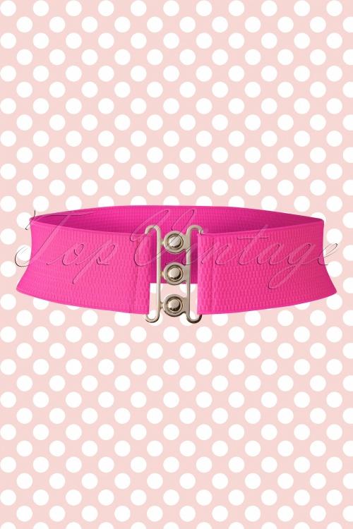 Banned 50s Lauren Retro Stretch Belt Hot Pink 230 22 15284 03132015 01W