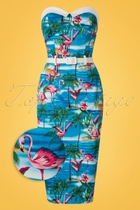 Collectif Clothing Monica Flamingo Island Pencil Dress 20690 20161129 0003wv