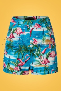 Collectif Clothing Ayana Flamingo Island Shorts 20710 20161130 0002w