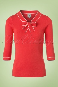 60s Sarah Sailor Jumper in Coral Red