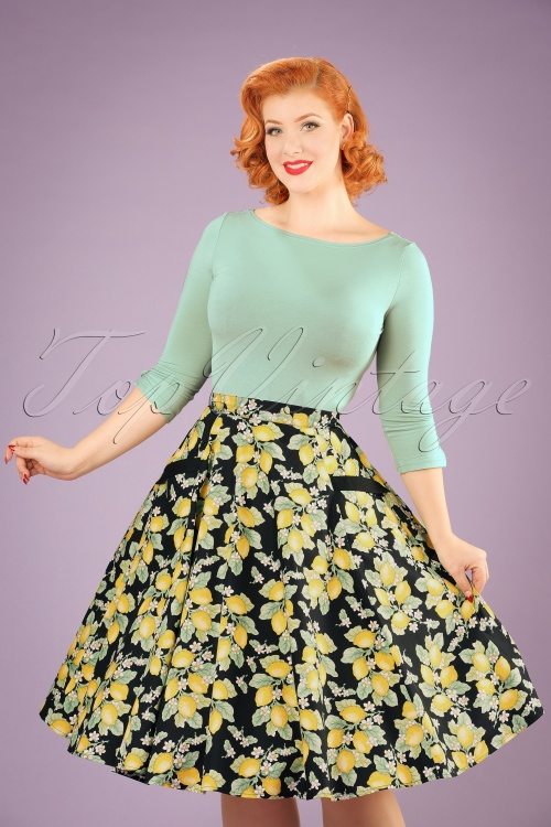 Bunny Leandra 50s Lemon Swing Skirt 122 14 21057 20170120 1W