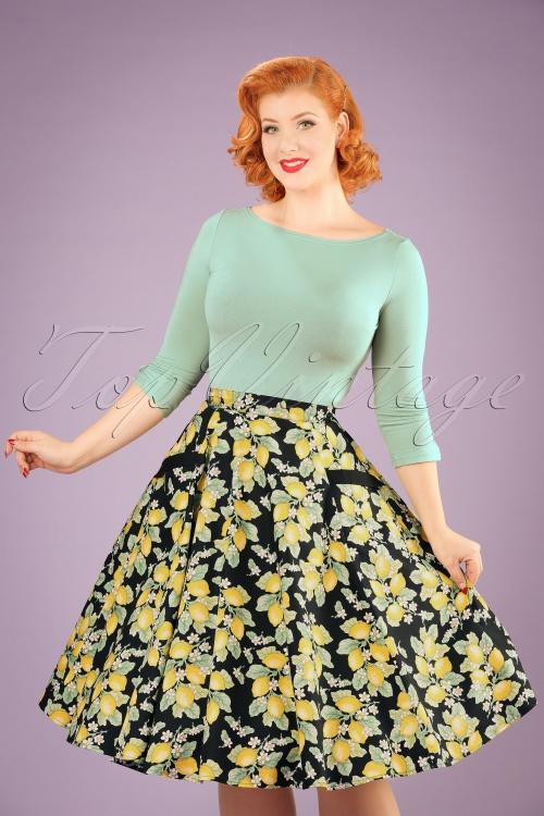 Bunny Leandra 50s Lemon Swing Skirt 122 14 21057 20170120 1W
