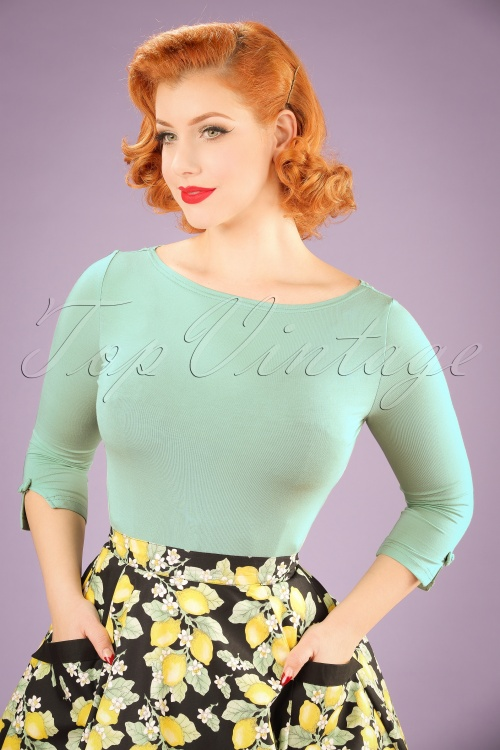 Dancing Days by Banned Sophie Top in Mint Green 113 40 17789 20160308 01W
