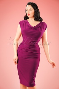 TopVintage exclusive ~ 50s Billie Pencil Dress in Raspberry Pink