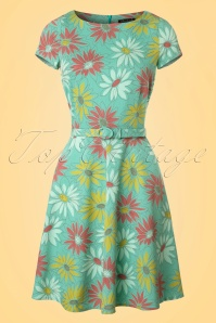 60s Betty Lively Dress in Summer Green