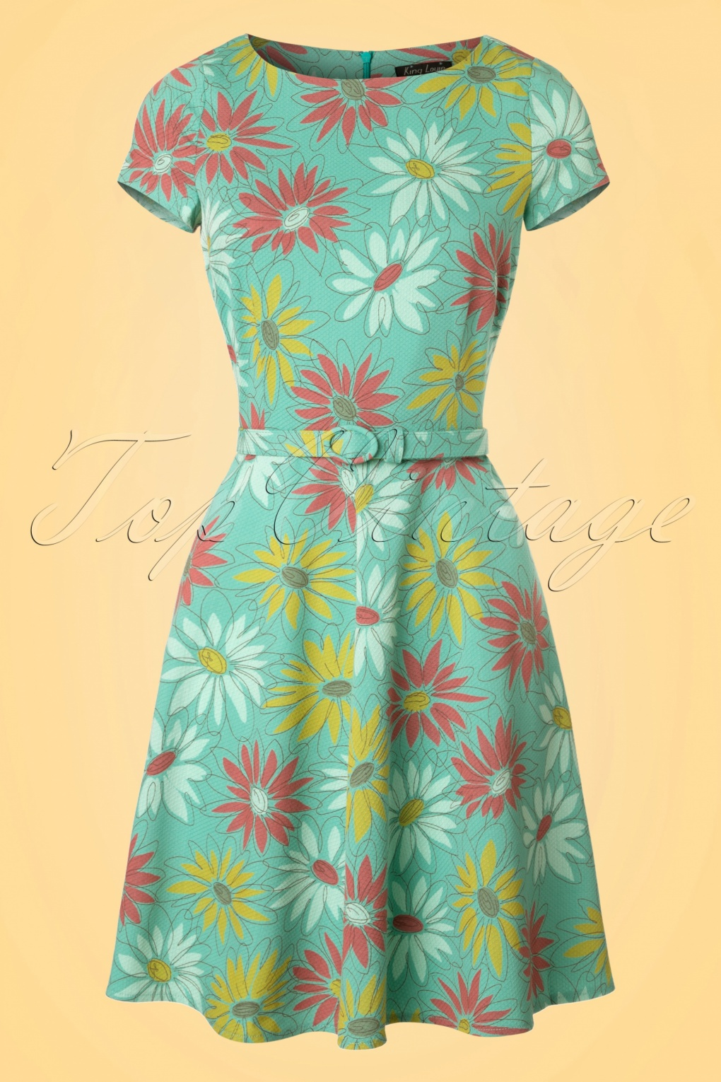 1960s Style Dresses- Retro Inspired Fashion 60s Betty Lively Dress in Summer Green £110.36 AT vintagedancer.com