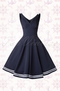 Miss Candyfloss Carol May Sailor Swing Dress 102 31 14885 20150221 0008W