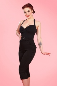 50s Quinn Playsuit in Classy Black